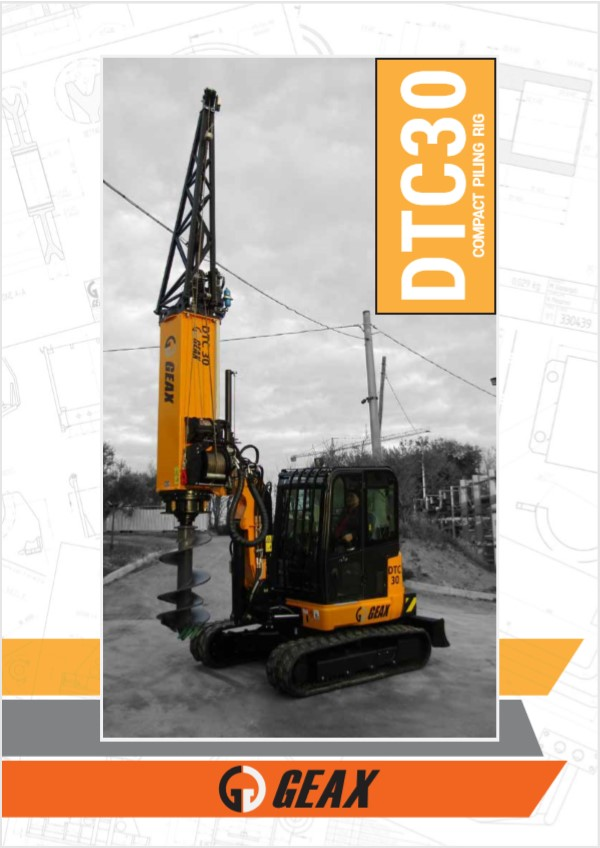 GEAX DTC30 Compact Piling Rig Brochure