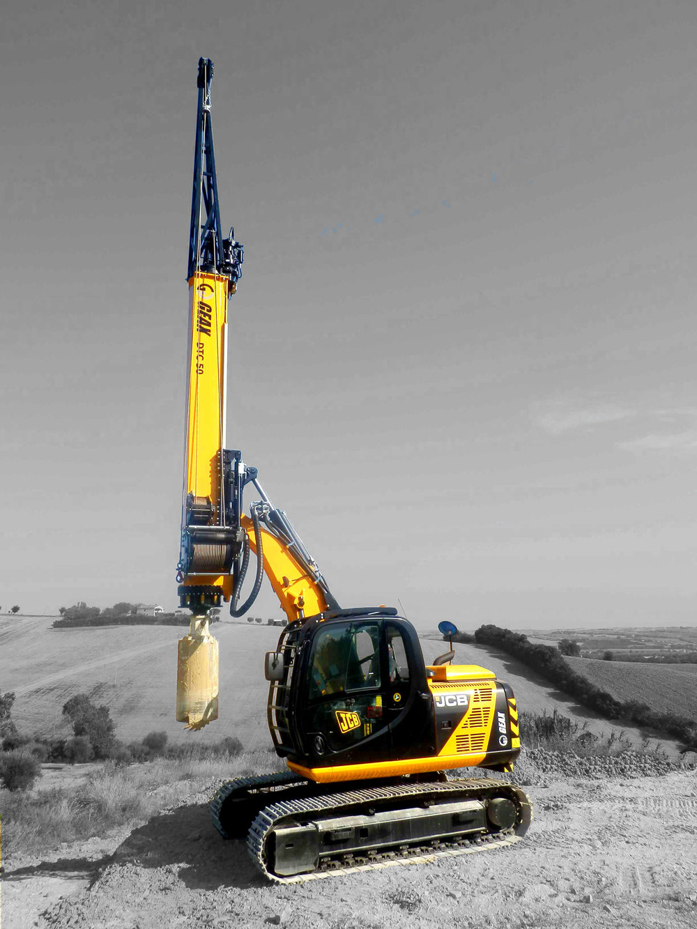 GEAX DTC50S       Piling Rig Mounted on JCB JS130 with   Tier 4F Engine   GEAX ~  2017   Hours: New