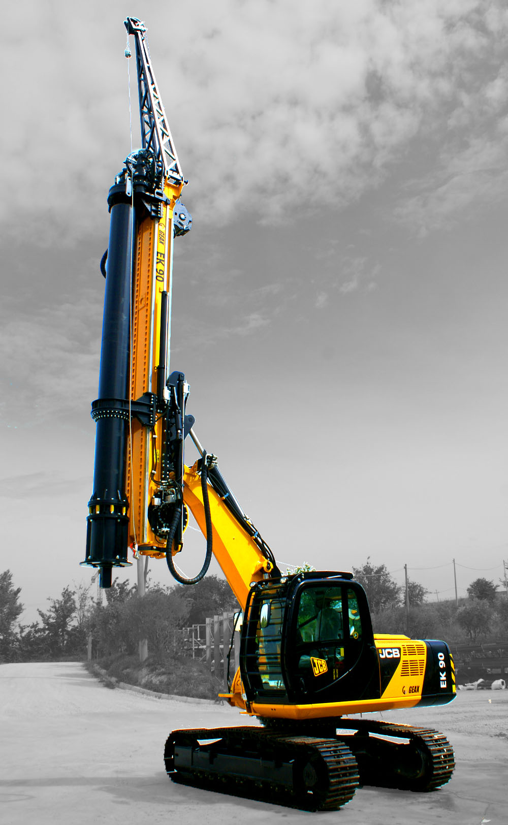 GEAX EK90    Piling Rig Mounted   on JCB JS160   with   Tier 4F Engine with CFA Kit available   GEAX ~  2016   Hours: 155