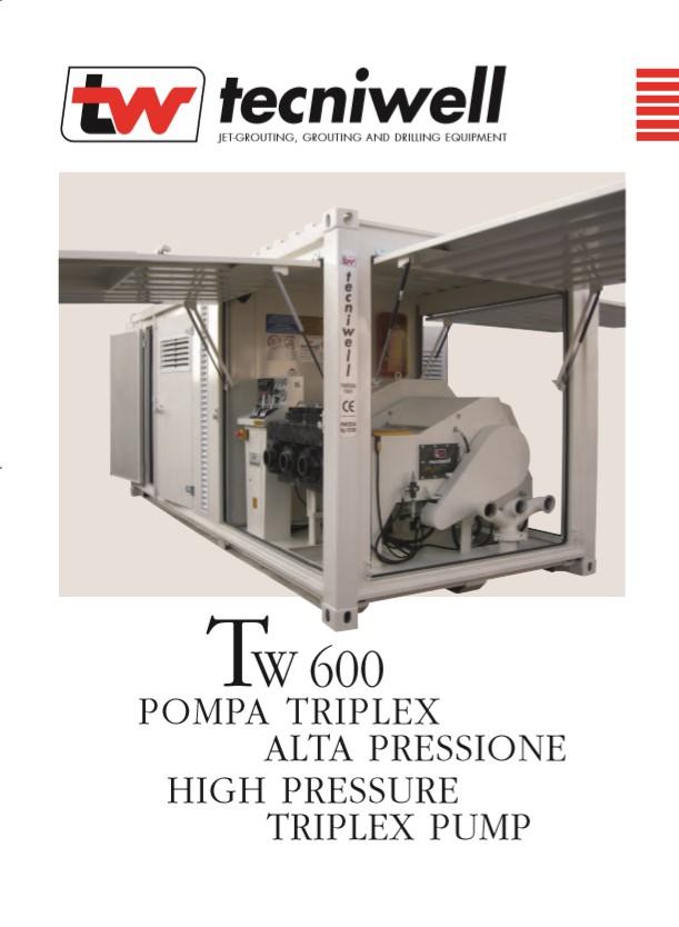 Tecniwell TW 600 High Pressure Triplex Pump Brochure