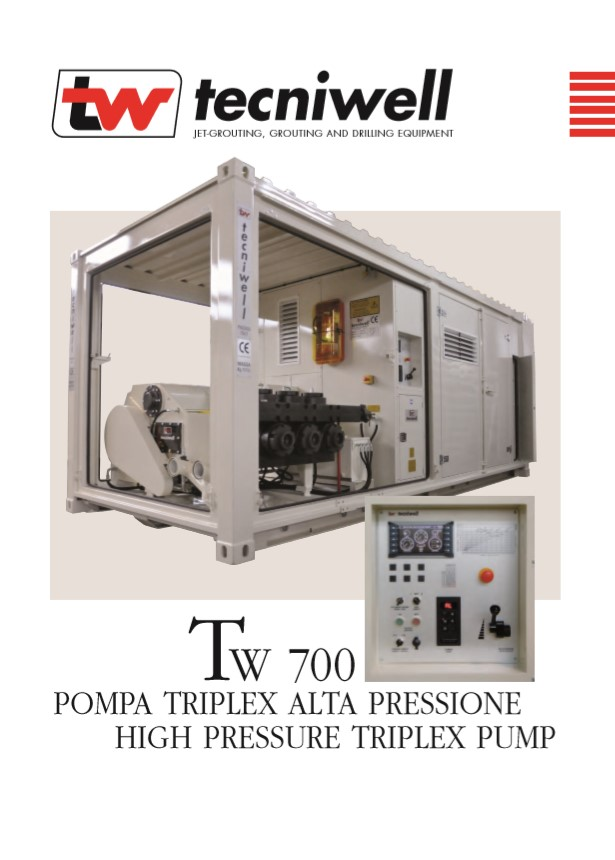Tecniwell TW 700 High Pressure Triplex Pump Brochure