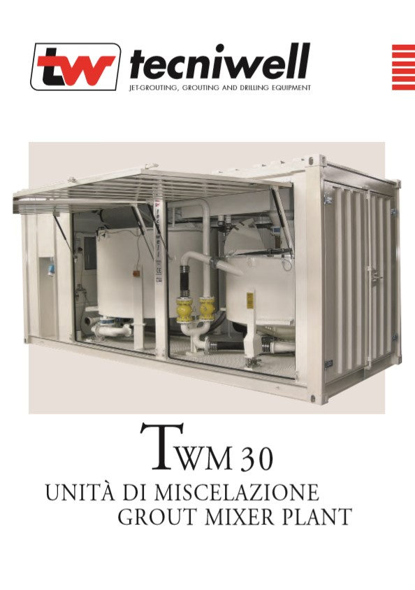 Tecniwell TWM 30 Grout Mixer Plant Brochure