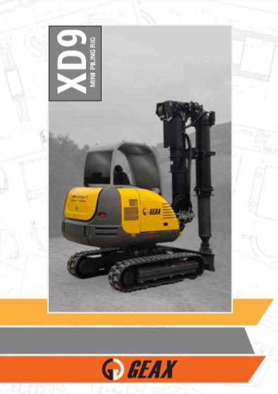 GEAX XD9 Mini Piling Rig Brochure