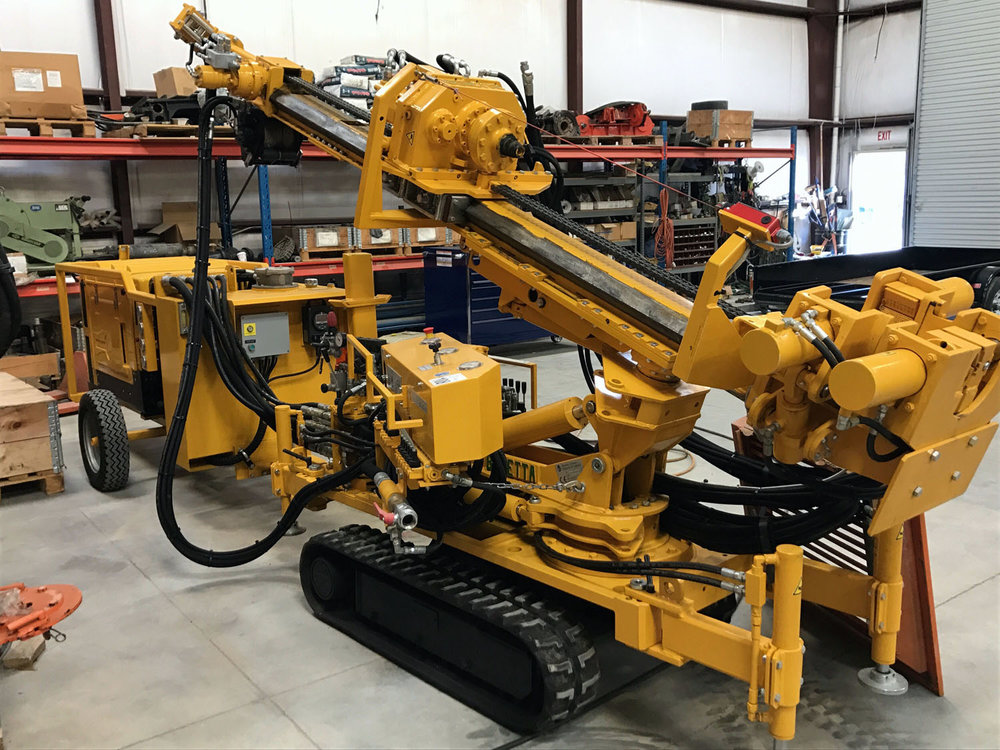Beretta T43    Limited Access tieback/microPile machine   with separate power pack    Beretta ~  2016   Hours: 50