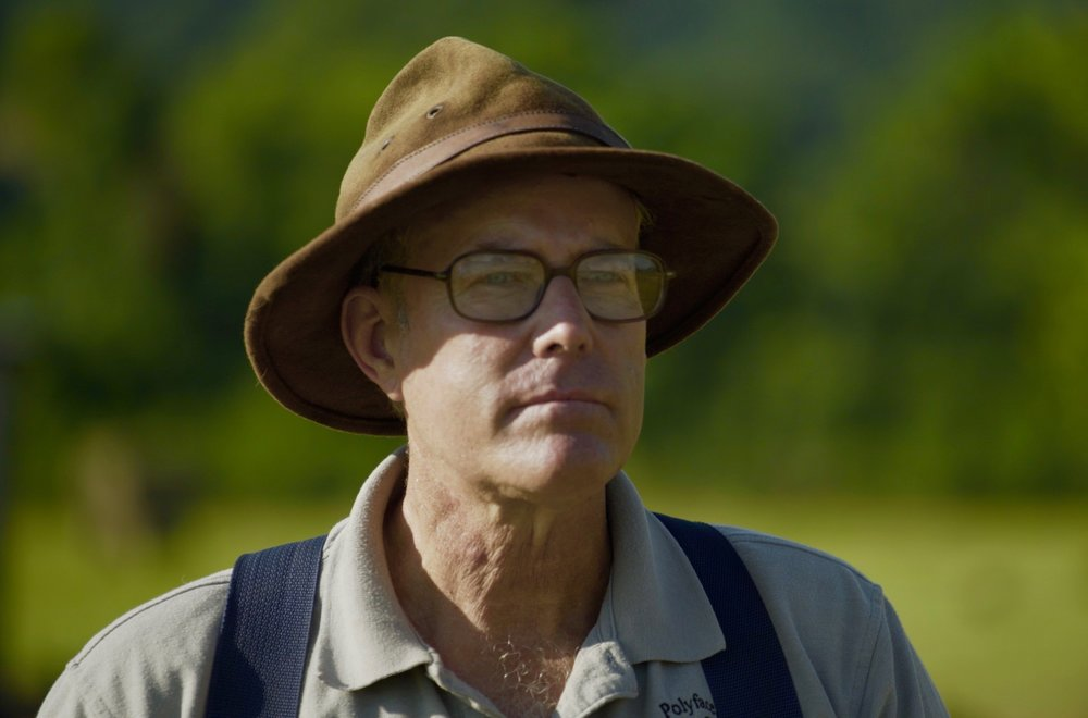 Still photo: Interview with Joel Salatin. All rights reserved.