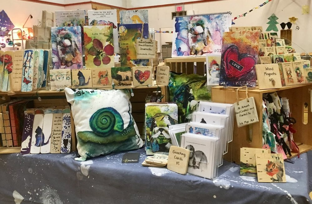Judy Mojo Art table-display.jpg