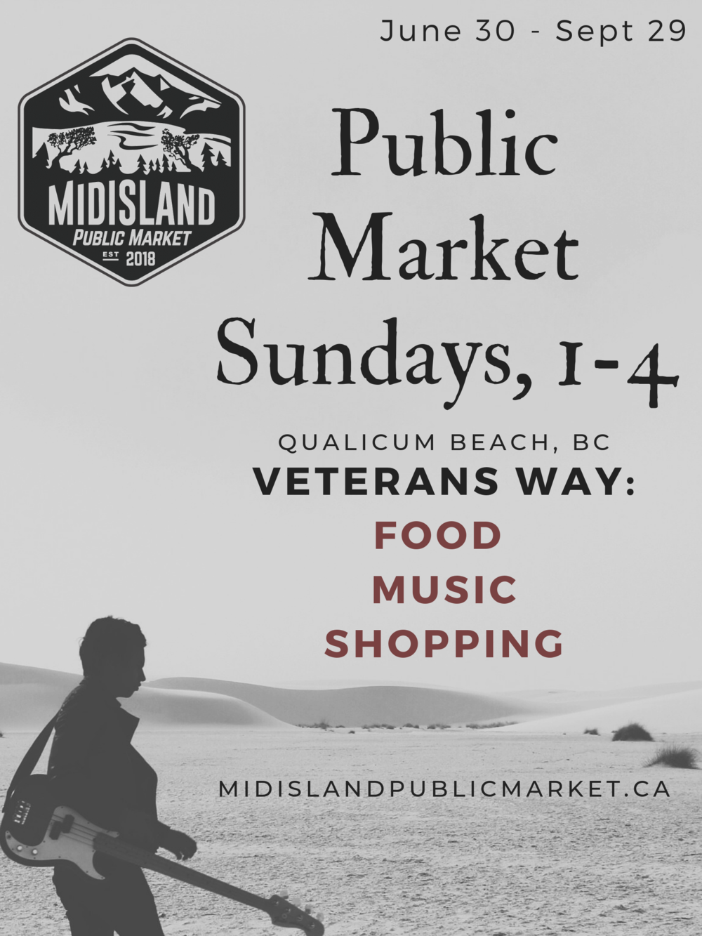 WE ARE A GO! - We have received approval and so much support from the Town of Qualicum Beach!Our 2019 market season is confirmed June 30th - Sept 29thSundays, 1-4pmFoodMusicShoppingCome and spend a fabulous afternoon with us!!!