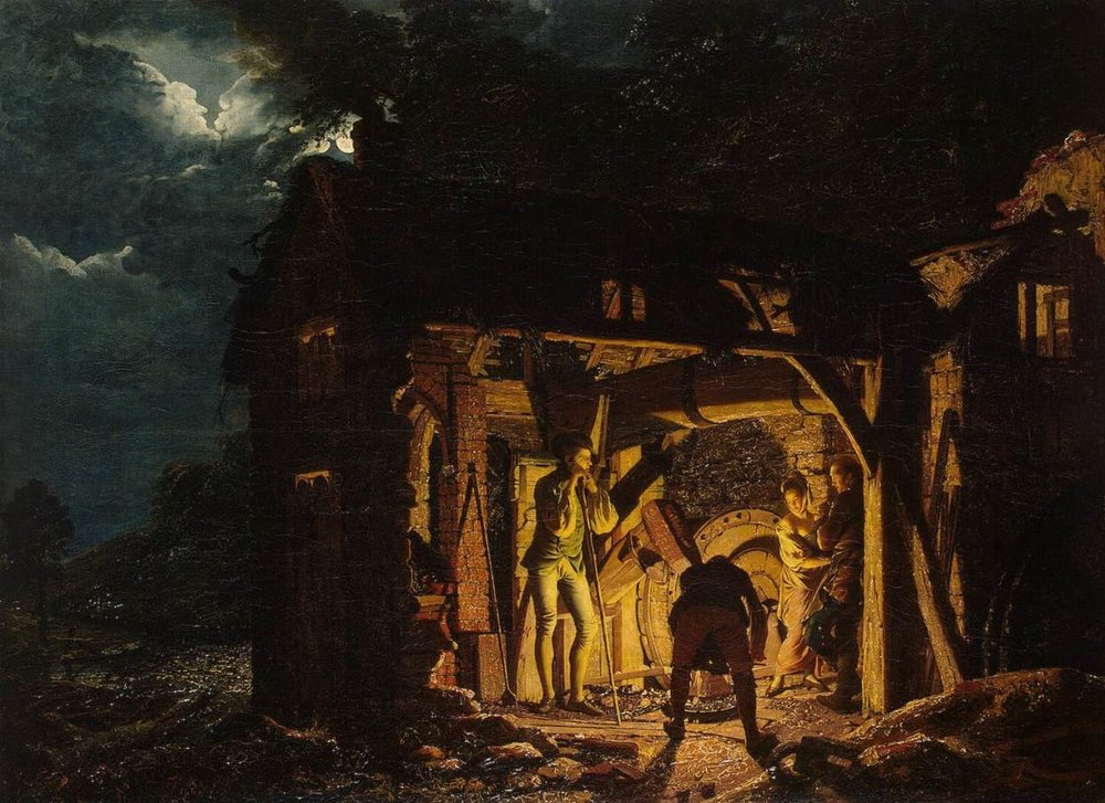 The Iron Forge Viewed from Without, Joseph Wright of Derby (1773)