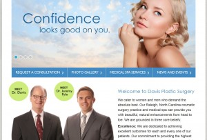 Raleigh surgeons launch new website at www.drgmdavis.com