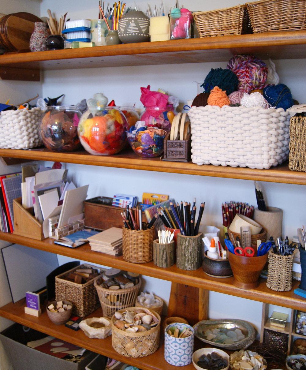 Photo of craft shelves.JPG