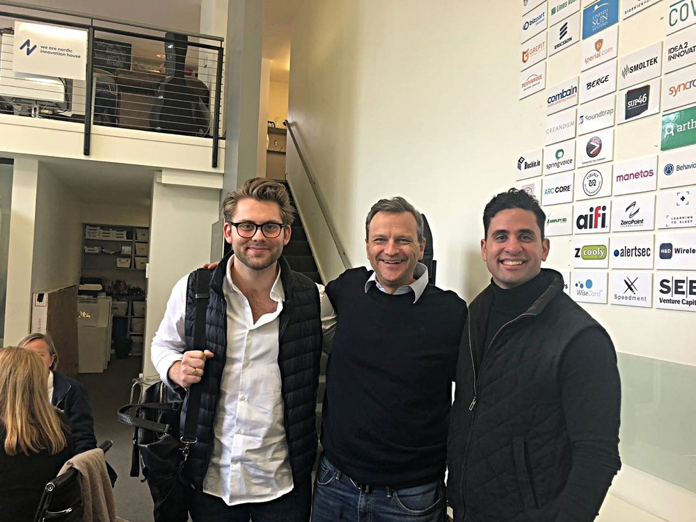 The founders together with Arne! - Arne Tonning is the Program Manager for Reach