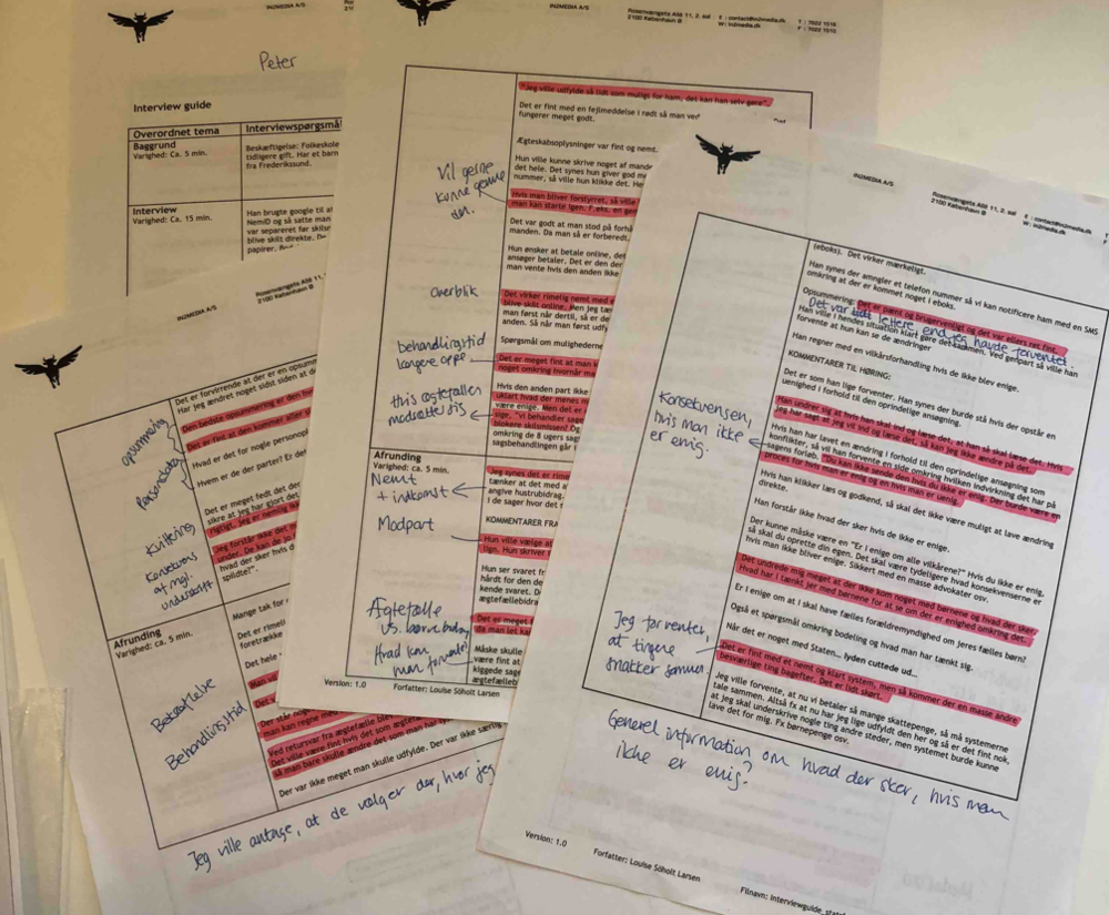User research - notes and analysis