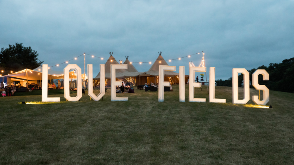 42 STEPS AWAY FROM GLASTONBURY... - Love Fields  is a peaceful haven offering a range of glamping options, from a traditional mongolian yurt and Airstreams, to a pitch your own, creating the perfect base just yards away from the magic of the festival.