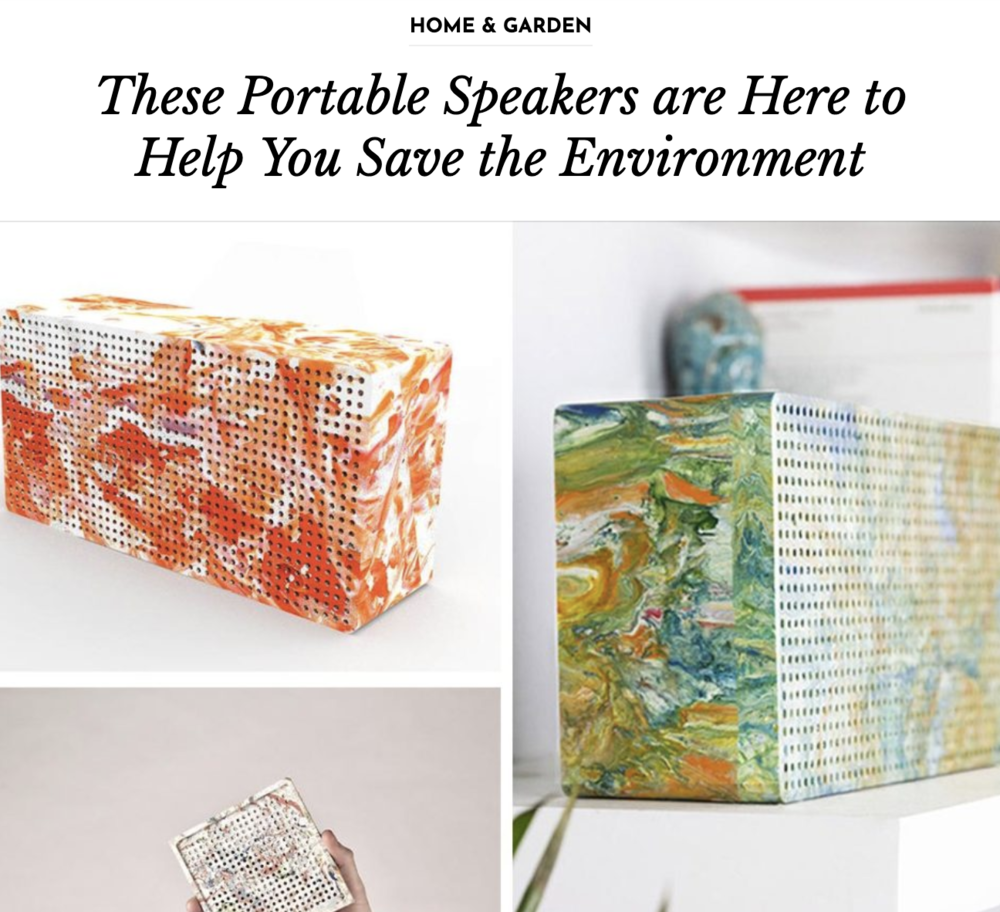 Recycled portable bluetooth speaker