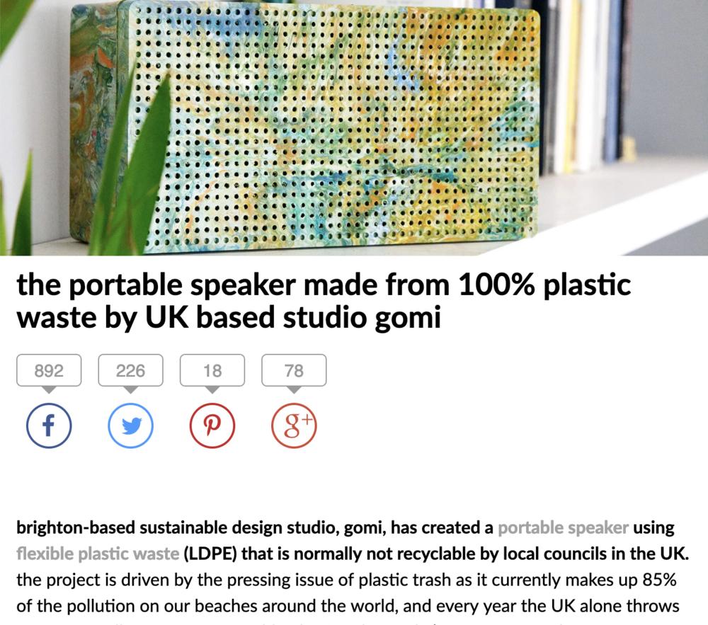 Gomi speaker zero waste tech