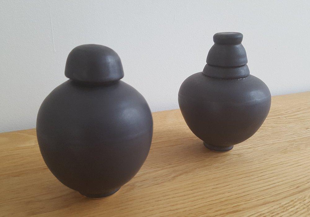 Black Satin glaze stoneware