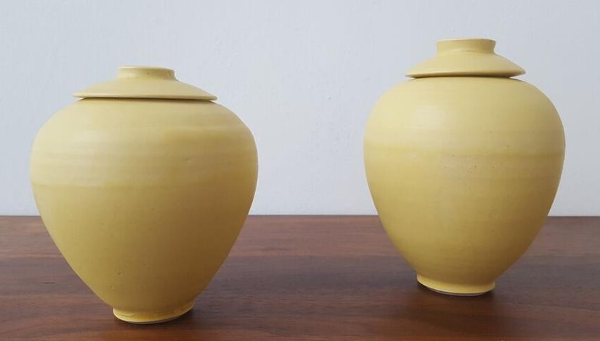 Yellow Satin Glaze Stoneware