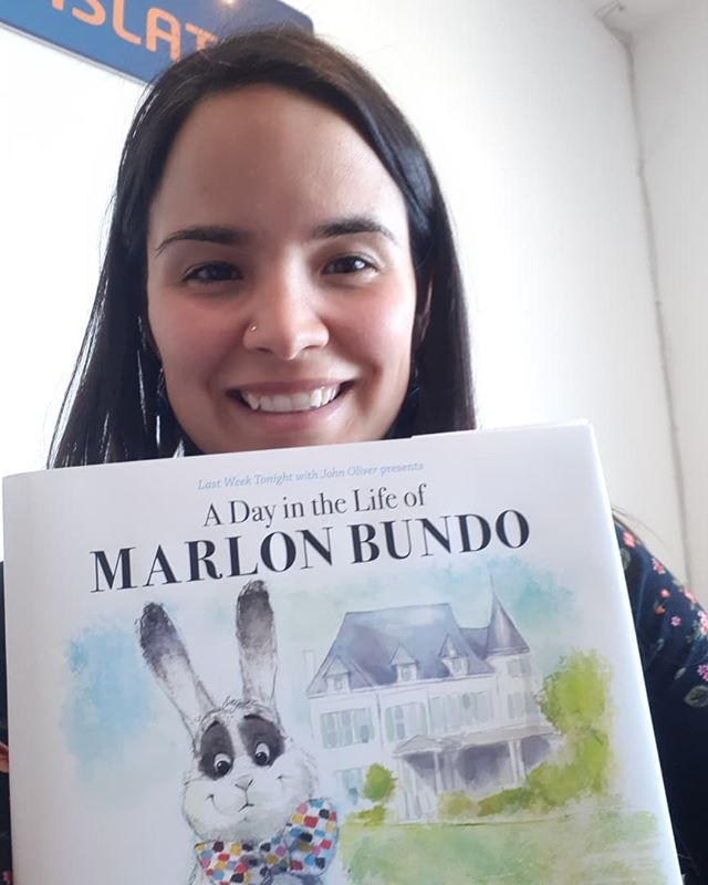 It has arrived 😃😃😃 Marlon Bundo is in Bundoran!!! He travelled all the way from #newjersey to tell us the beautiful story of two boy bunnies who fall in love. Thank you #johnoliver and the team in #lastweektonight for making the world a little more fair - the book will be available to read in our library from right now. Let's teach our children tolerance 🌈 * * * #lgbtq #tolerance #bunniesofinstagram #marlonbundo