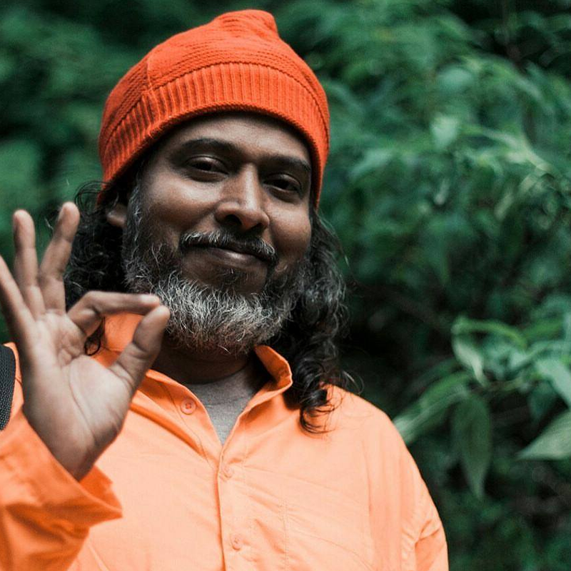 Swami Atma (India)   Swami Atma Giri is a homeopathic doctor residing in Rishikesh. He learned yoga meditation from the famous Swami Rama Sadhaka Grama Ashram and Vedanta (knowledge of Indian philosophy) from Dayananda Ashram. He teaches insightful lectures and draws his inspiration of enlightenment practices from the Mandukya Upanishad. Students are guided to a state of relaxation through yoga nidra and are taught exercises to optimize the functioning of joints, glands and purification of the nadis, to help prana flow throughout the body. The Bhagavad Gita is presented as scripture beyond religions and its relationship to yoga is explored.