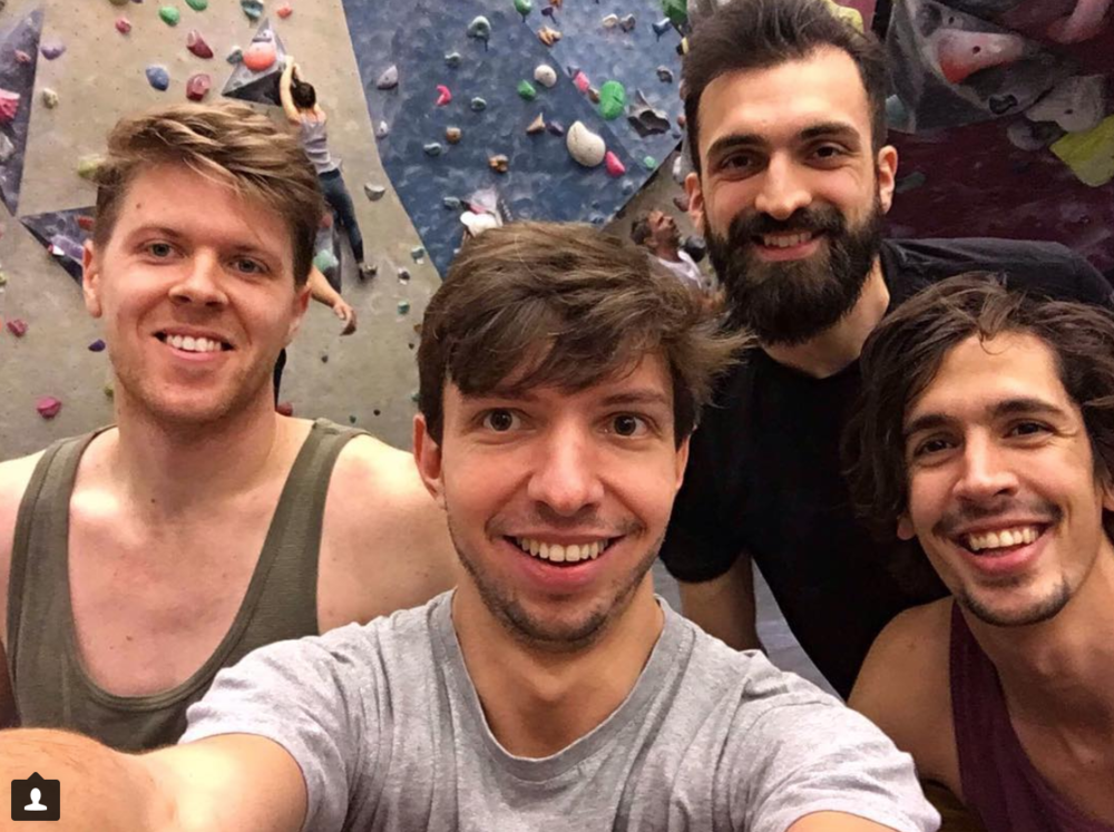 "It is so easy to find motivation for workouts when you always have buddies to go with   ""Good habits spread like a virus in the house. Now we're almost 10 people signed up for the workout app Bruce and a group of people regularly (yet spontaneously) going climbing together. Viva co-living!""   – Ludvig"