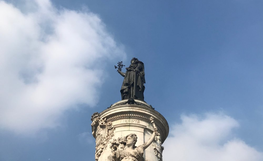This is the statue of Marianne at Republique in Paris. She represents freedom and democracy, so clearly she has absolutely nothing to do with the topsy-turvy rental market in Paris.