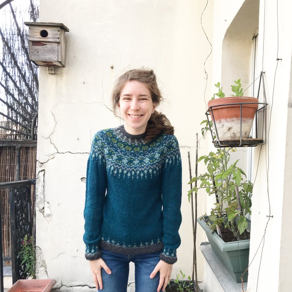 Circular yoke jumper:I actually knitted a lot of this while I was working in the Popup Flandre shop. Our customers loved talking about it!