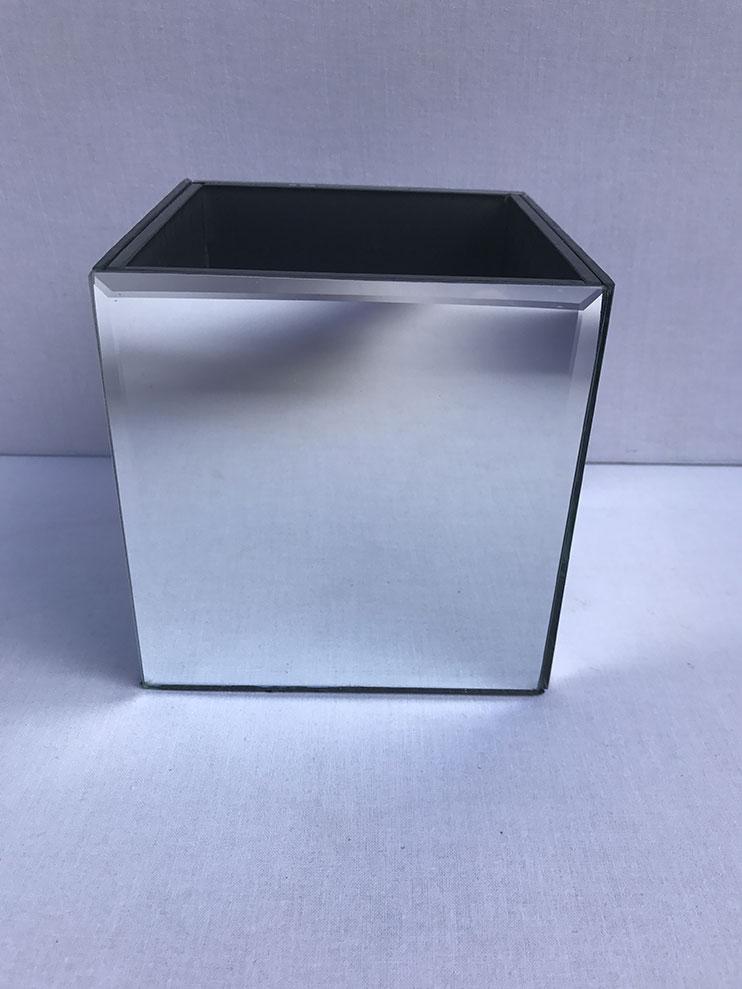 14cm Mirror Cube Vase The Prop House Wedding Event Hire