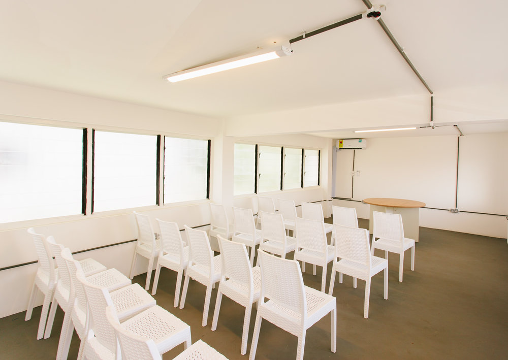 TRAINING ROOM - - GH500/day- Furnished and air-conditioned with 45 person capacity.- All utilities included (internet, back up generator, security, cleaning, water and electricity)