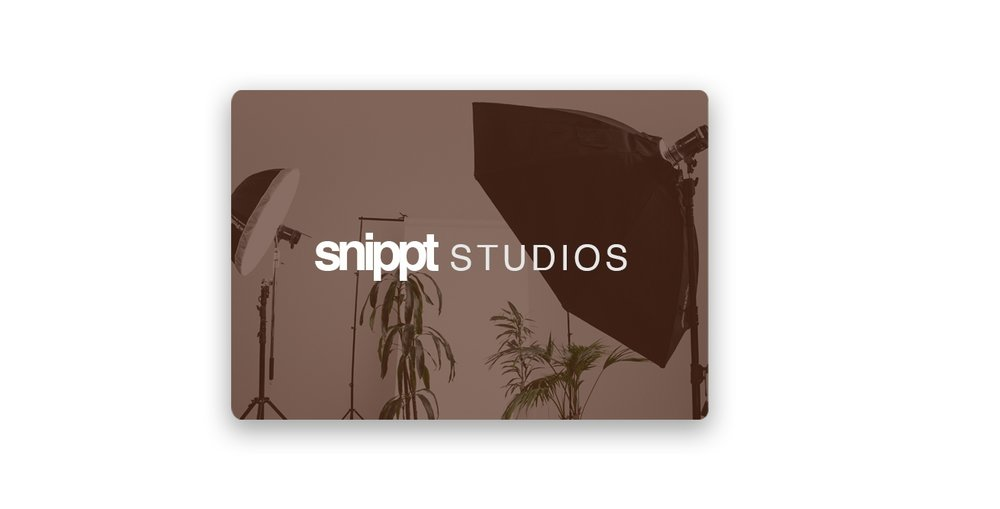 - Snippt Studios takes care of all video and photography production for the products that are displayed on its platform. To keep a consistent story for each product and brand we keep a close eye on detail and take the burden of content creation off your hands.