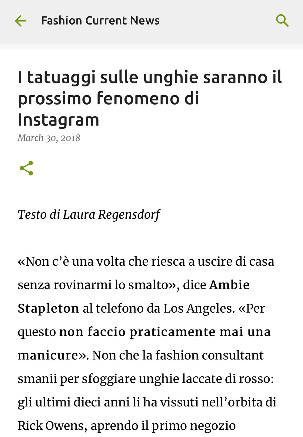 Fashion Current News