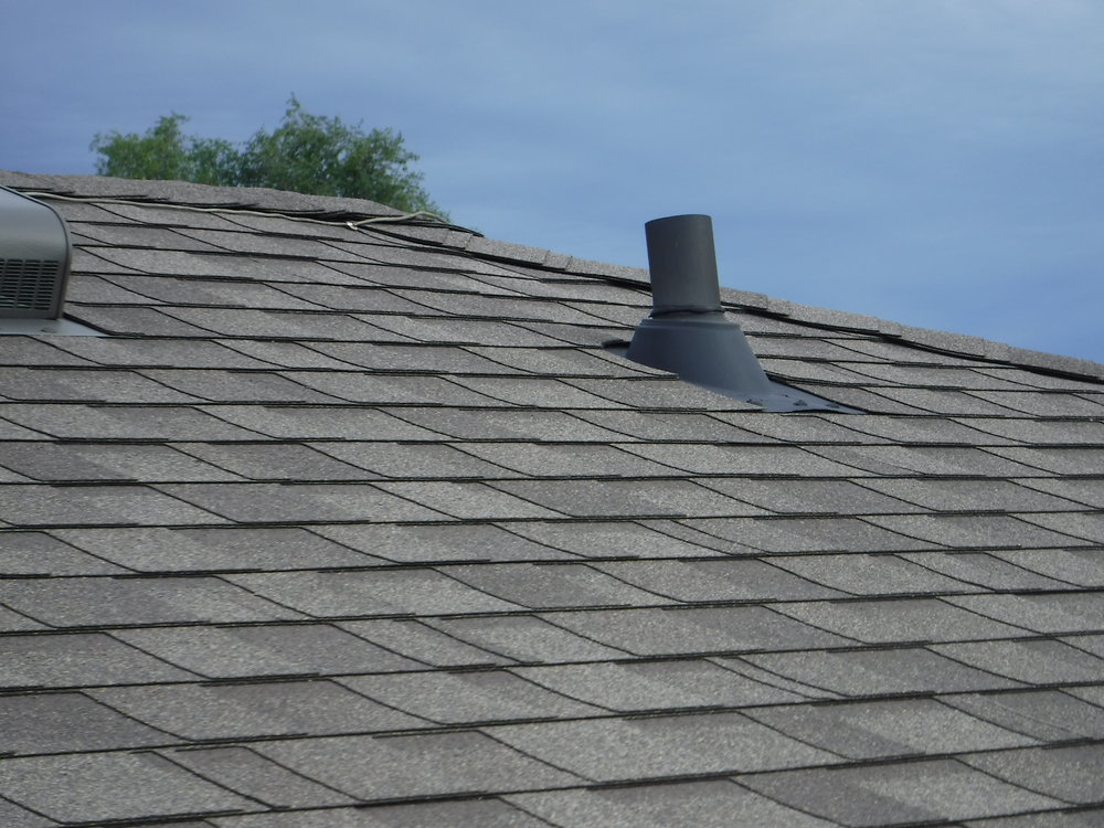 Plumbing vent stack on roof