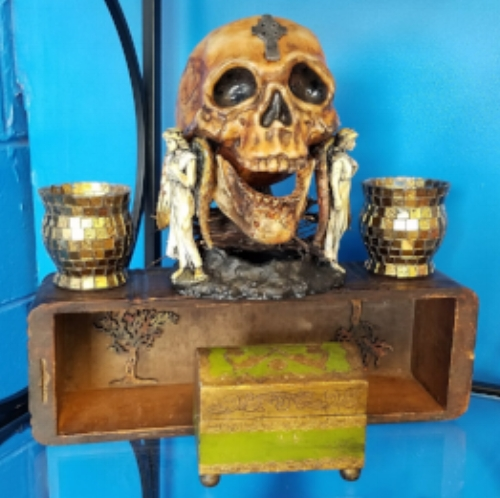 2017 Binding Darkness, Prayer Box. Assemblage Art by Marcia Hahn, SOLD