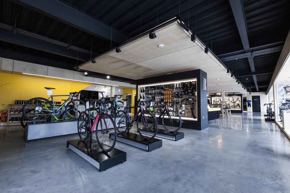 The Boardman Bikes elite bike store