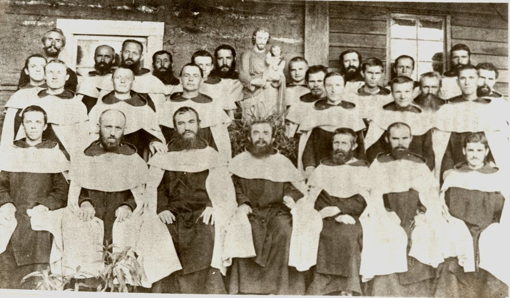 Carmelite Friars in front of the Monastery, 1882. Source: