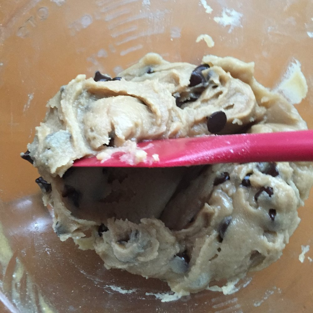 Cookie dough should be spreadable.