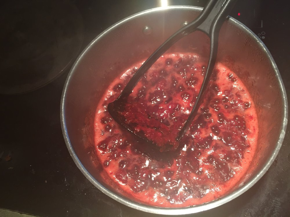 Step Three of Quick Strawberry Jam