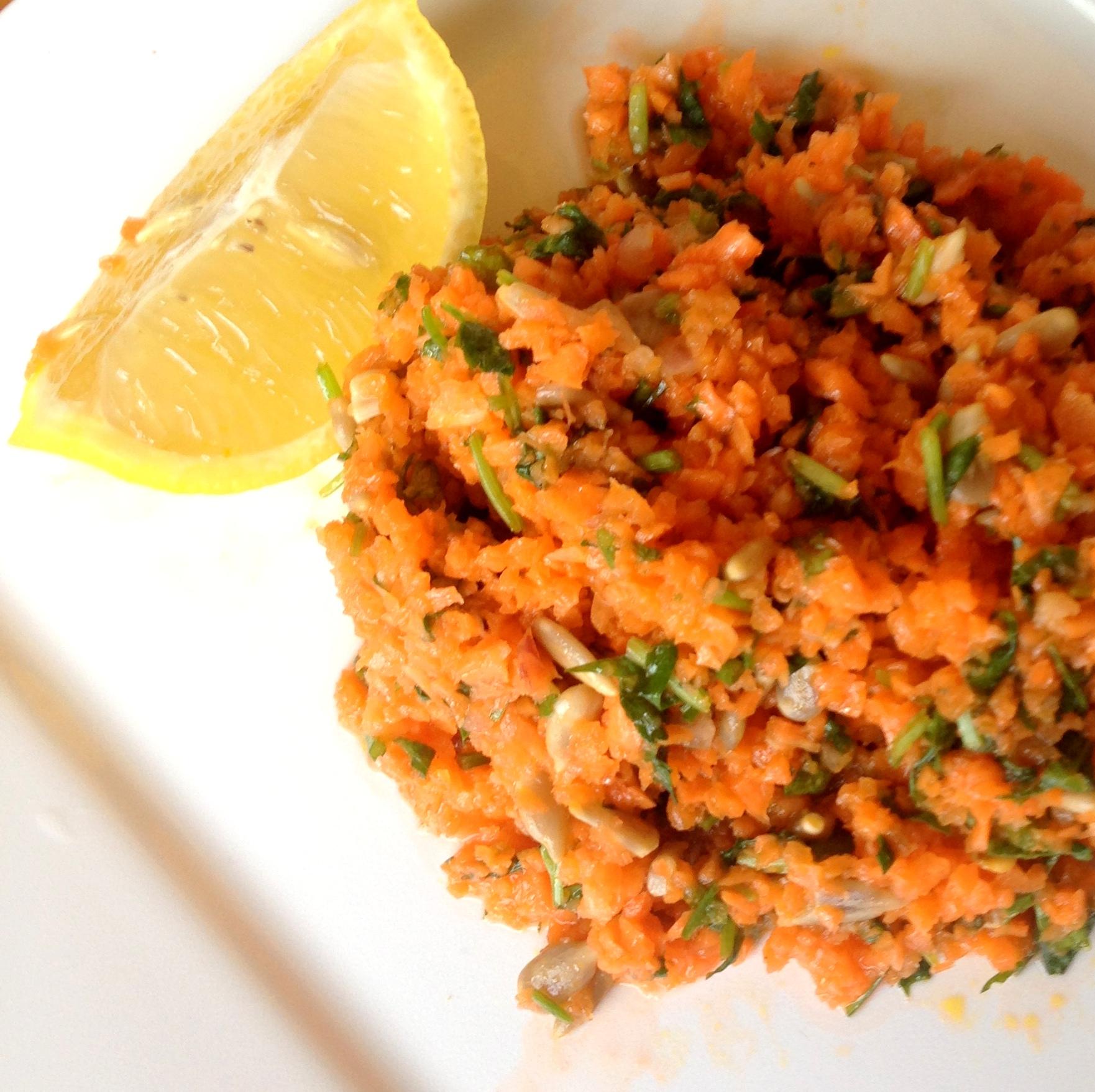 Carrot Tabbouleh Recipe - Grain-Free Mezze