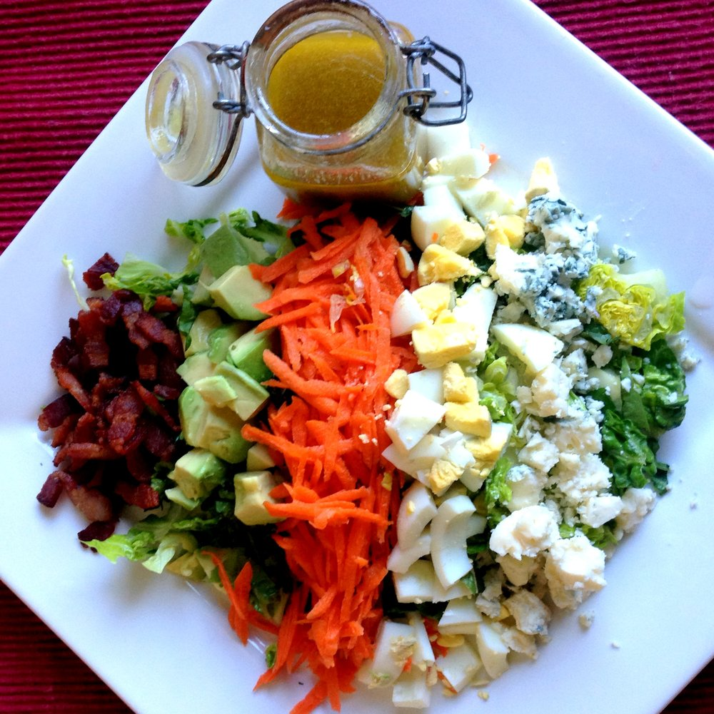 DIY Salad Dressing with Chopped Salad