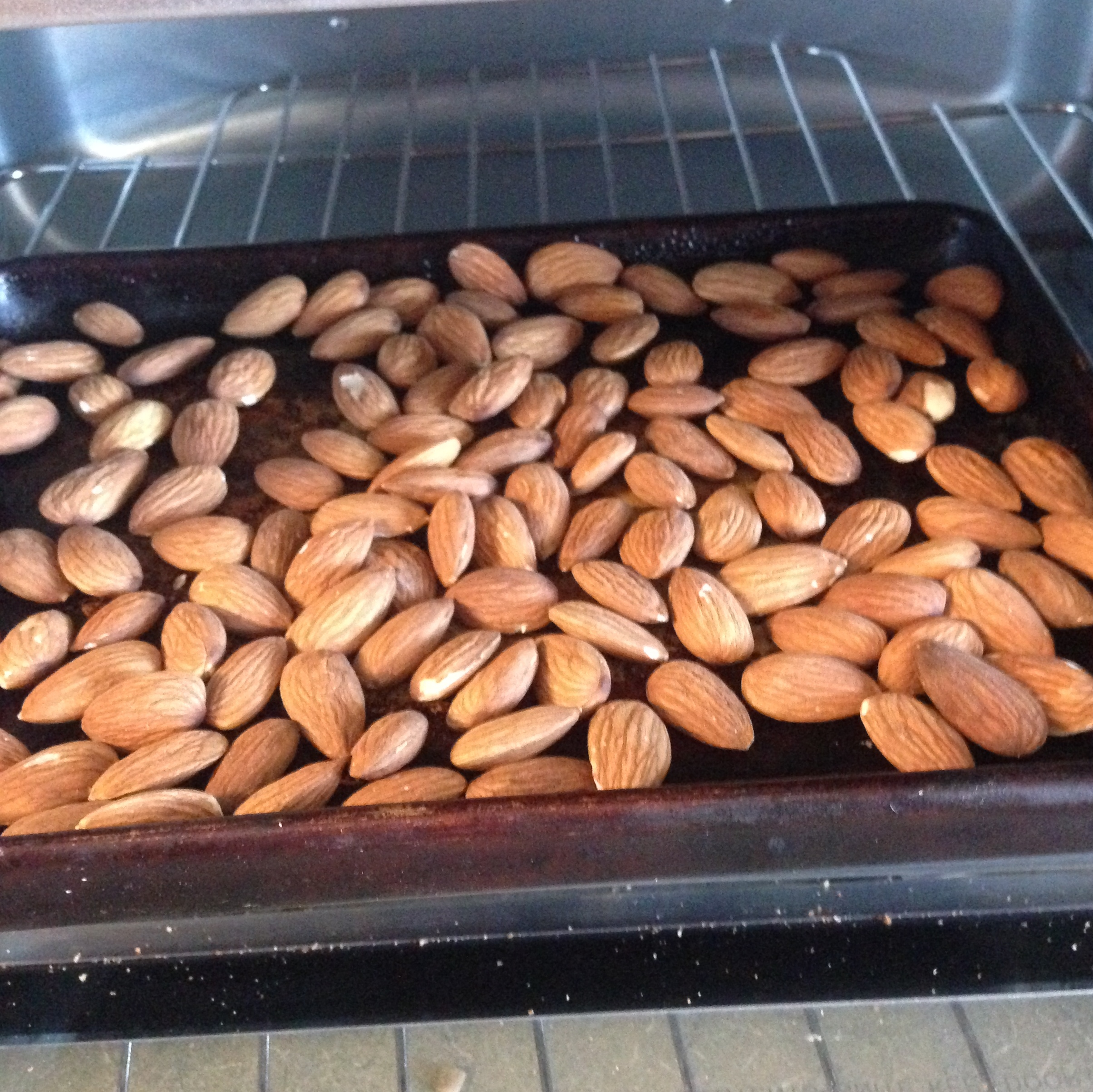 roasting almonds