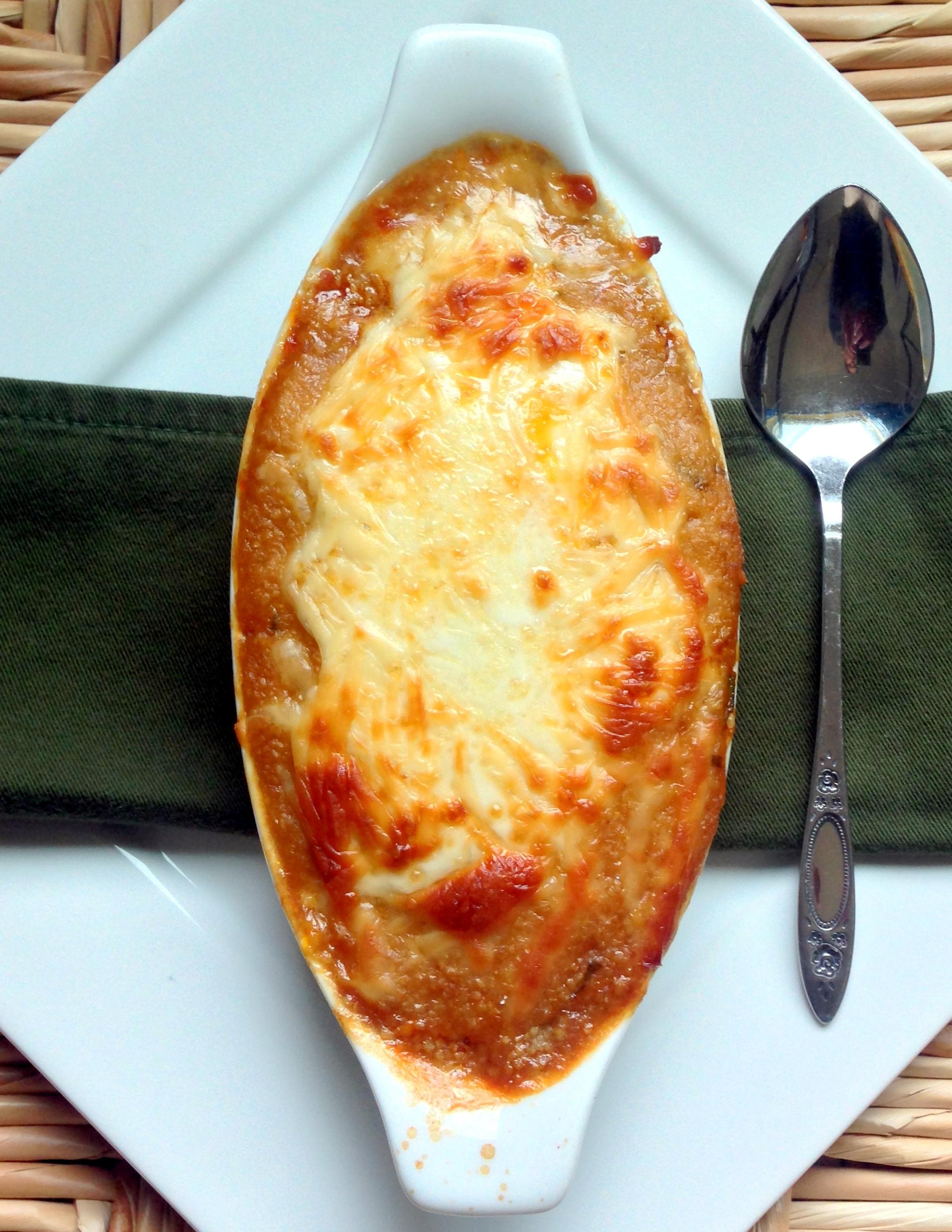 Spanish lentils with polenta