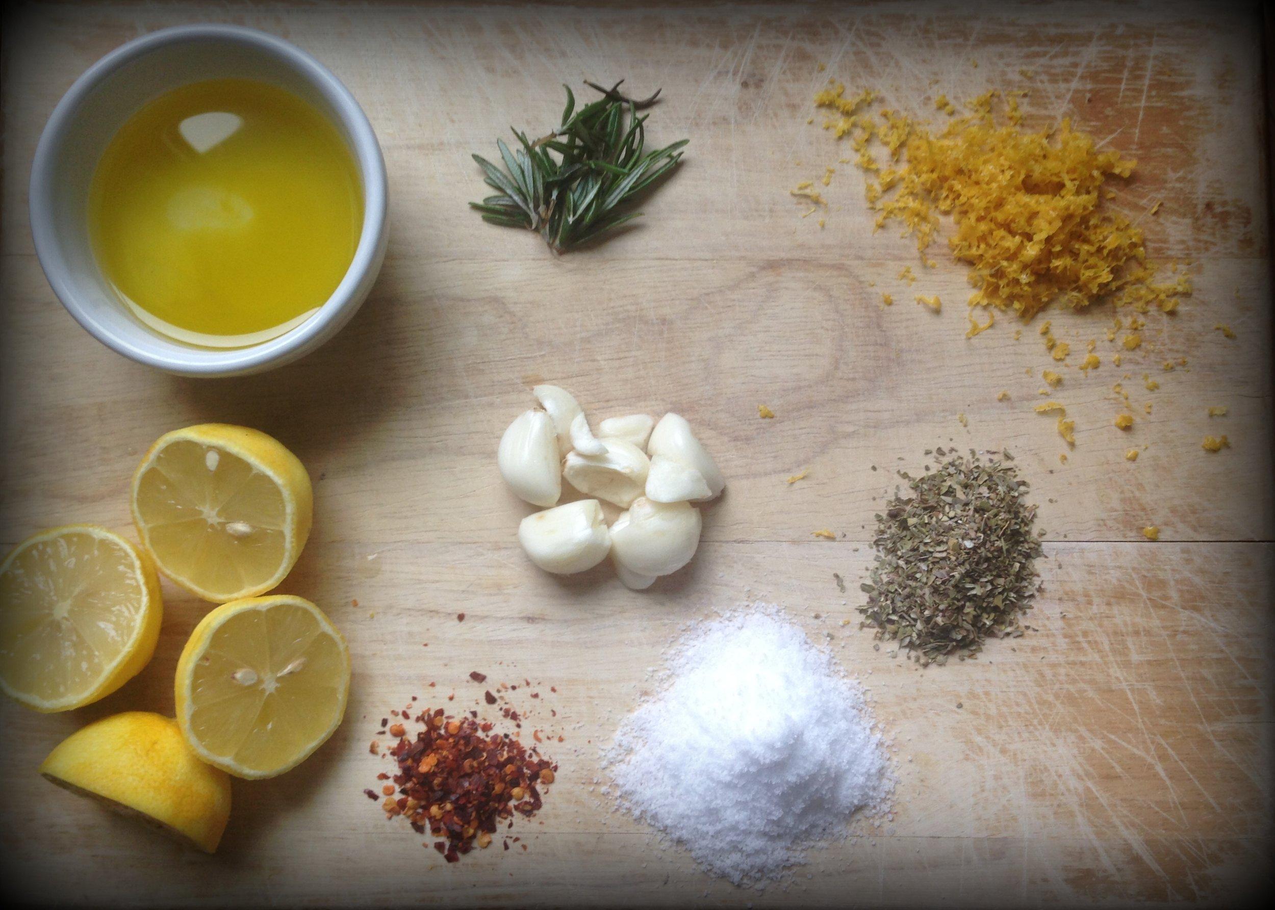 Greek Roasted Chicken Ingredients