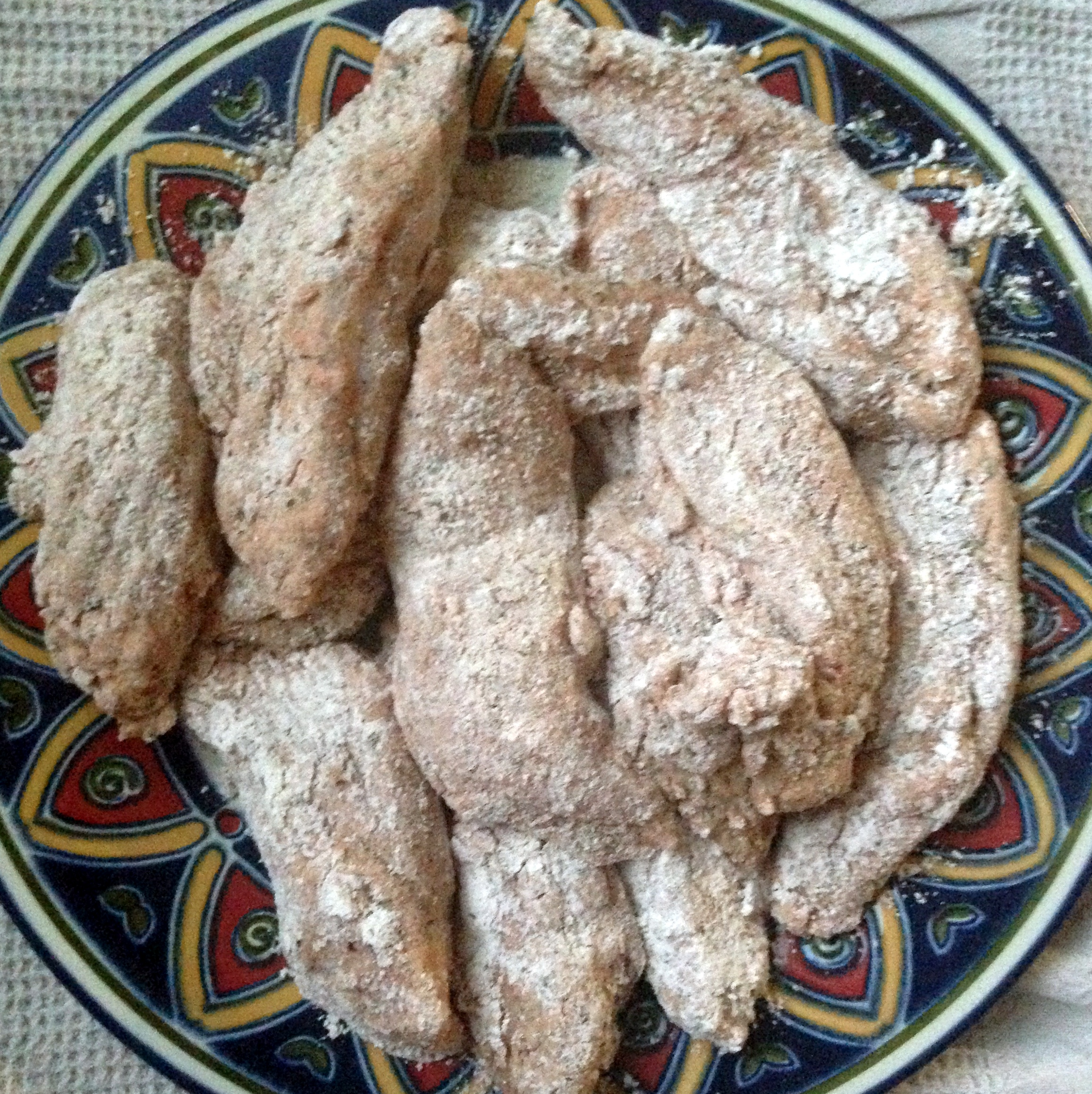 Chicken After Dredging, Ready to Fry