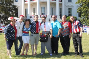 Balloon Crew at the White House - July 4, 2010