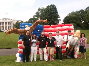 Balloons at the White House on July 4, 2009