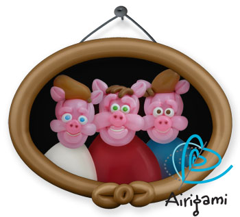 Portrait of the three little pigs