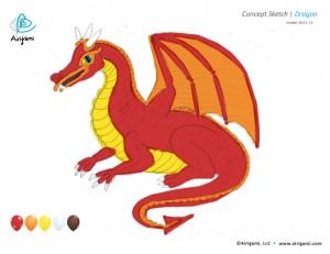 Airigami Dragon - concept sketch