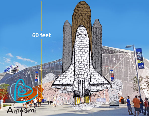 Early rendering of what this shuttle should look like on Saturday evening in front of BBVA Compass Stadium.