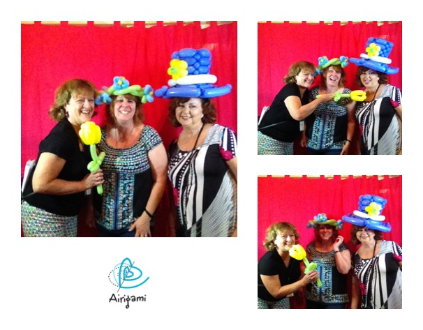 The Airigami photo booth debuted during August First Friday.