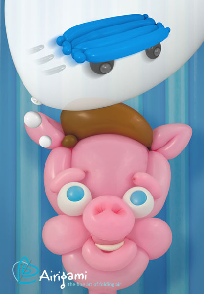 """From """"And He Puffed"""", our version of the """"Three Little Pigs"""", created as a Kickstarter Project a couple years ago."""