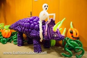 Halloween balloon triceratops by John Reid
